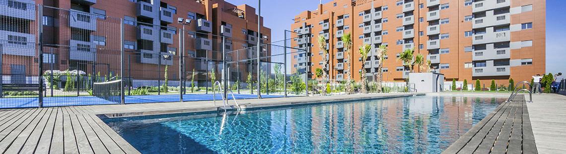 Promoci n obra nueva residencial gran manzana cci for Pisos obra nueva granada