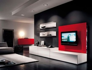 Contraste de colores en decoración minimalista