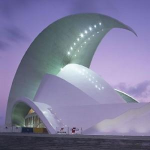 Arquitectura modernista. Auditorio de Santa Cruz de Tenerife, Canarias