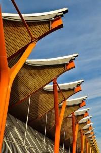 Arquitectura moderna. Terminal 4 de Barajas, Madrid
