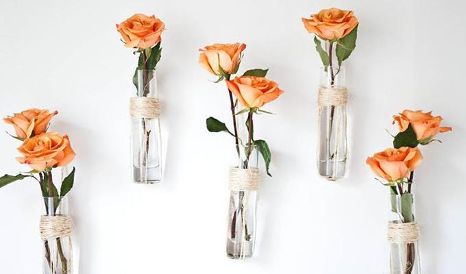 Flores como decoración en verano