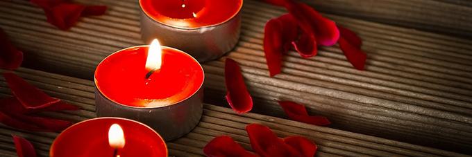 Decoración Romántica para San Valentín: velas