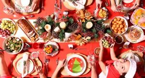 cena de navidad en casa