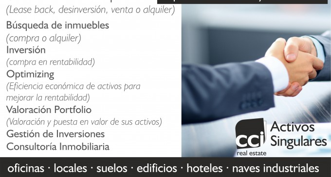 Centro Comercial Inmobiliario lanza su nueva marca Activos Singulares CCI